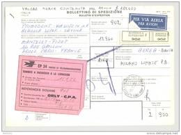 Bulletin D'Expédition - Italie - Cachets ALBISSOLA SUPERIORE  - 1981 - Vignette CP 34 Douane - 1946-.. République