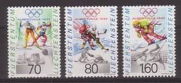 SERIE NEUVE DU LIECHTENSTEIN - JEUX OLYMPIQUES D'ALBERTVILLE N° Y&T 971 A 973 - Winter 1992: Albertville