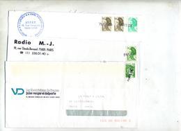 Lot 6 Lettre Cachet Annulation Paris - Marcophilie (Lettres)