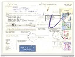 Bulletin D'Expédition - Italie - Cachets MURANO Et GENOVA PORTO TRANSIN - 1981 - Tampon VETRERIA F.LLI TOSO - 1946-.. République