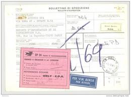 Bulletin D'Expédition - Italie - Cachets Et Vignette RENATE BRIANZA - 1981 - Vignettes CP 34 Douane Et Par Avion - 1946-.. République