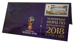 Russia,  Football 2018, Stadium Kaliningrad, Stamp +3 D Special Pack - 2018 – Russland