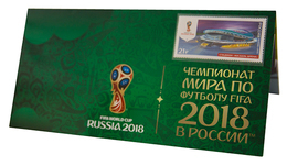 Russia,  Football 2018, Stadium Kazan, Stamp +3 D Special Pack - 2018 – Russland