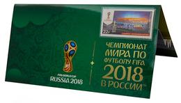 Russia,  Football 2018, Stadium Mordovia-Arena, Stamp +3 D Special Pack - Wereldkampioenschap