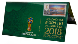 Russia,  Football 2018, Stadium Mordovia-Arena, Stamp +3 D Special Pack - 2018 – Russland