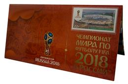 Russia,  Football 2018, Stadium Novgorod-Arena, Stamp +3 D Special Pack - Wereldkampioenschap