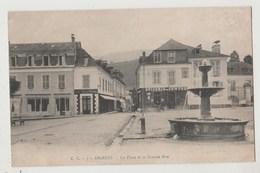 CPA 65 ARGELES La Place Et La Grande Rue - Argeles Gazost