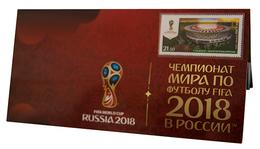 Russia,  Football 2018, Stadium Volgograd-Arena, Stamp +3 D Special Pack - 2018 – Russland