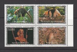 1996 Panama Mammals Cats  Complete Block Of 4 MNH - Panama