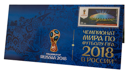 Russia,  Football 2018, Stadium Samara-Arena, Stamp +3 D Special Pack - Wereldkampioenschap