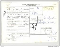 Bulletin D'Expédition - Italie - Cachets Et Vignette IMPERIA - 1981 - Timbres-Poste ITALIA - 1946-.. République