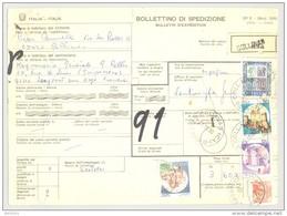 Bulletin D'Expédition - Italie - Cachets Et Vignette COLLINAS - 1980 - Timbres-Poste ITALIA - 1946-.. République