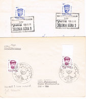Polen 2 Sonderstempel Jelenia Gora (Hirschberg) - 1944-.... Republik