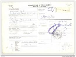 Bulletin D'Expédition - Italie - Cachets Et Vignette SENNA COMASCO - 1980 - Tampon SETARIUM SPA - 1946-.. République