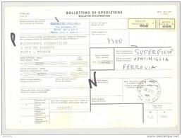 Bulletin D'Expédition - Italie - Cachets Et Vignette Millano (Succursale 49) - 1980 - Tampon Cristallerie LIVELLARA - 1946-.. République