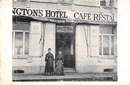 CPA -  Belgique, WATERLOO, Wellington Hotel, Cafe Restaurant - Waterloo