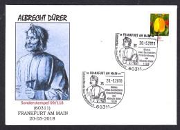 3.- GERMANY 2018 SPECIAL POSTMARK - Albrecht Dürer - Painter - Painting - Art