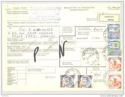 Bulletin D'Expédition - Italie - Cachets Et Vignette SEREGNO - 1981 - Tampon RONCHI GIUSEPPE - 1946-.. République