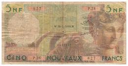 BILLET ALGÉRIE - 5 NF NOUVEAUX FRANCS - 31.7.1959 Peu Commun Petite Déchirure Milieu - Algeria