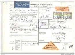 Bulletin D'Expédition - Italie - Cachets Et Vignette NAPOLI - 1981 - Vignettes Triangulaire Assegno Remboursemment - 1946-.. République