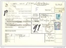 Bulletin D'Expédition - Italie - Cachets Et Vignette SAVONA - 1980 - Timbres-Poste Italia - 1946-.. République