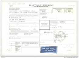 Bulletin D'Expédition - Italie - Cachets Et Vignette SOLBIATE ARNO - 1980 - Marque Localisée SOLBIATE ARNO - 1946-.. République