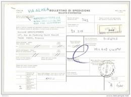 Bulletin D'Expédition - Italie - Cachets Et Vignette ZINGONIA - 1981 - Griffe VIA AERA - Tampon HAYSSEN EUROPA - 1946-.. République