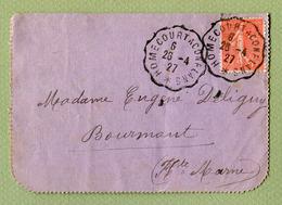 """AMBULANT CONVOYEUR : """" HOMECOURT A CONFLANS """"  1927 - Marcophilie (Lettres)"""