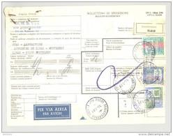 Bulletin D'Expédition - Italie - Cachets Et Vignette ABBIATEGRASSO - 1981 - Timbres-Poste Italia Et Vignette Par Avion - 1946-.. République