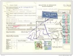 Bulletin D'Expédition - Italie - Cachets Et Vignette CASTALLI CALEPIO - 1981 - Timbres-Poste Italia - Vignette Par Avion - 1946-.. République