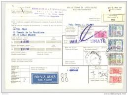 Bulletin D'Expédition - Italie - Cachets Et Vignette VENEZIA - 1980 - Griffes MILANO LINATE Et Griffe RIEN Rectangulaire - 1946-.. République