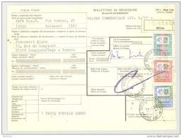 Bulletin D'Expédition - Italie - Cachets Et Vignette BEINASCO - 1980 - Tampon FAPA S.A.S. - 1946-.. République