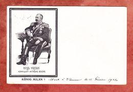 Koenig Milan, EF Kaiser, Wien Nach Genf 1901 (53632) - Familles Royales