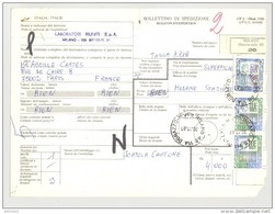 Bulletin D'Expédition - Italie - Cachets Et Vignette MILANO (Succursale 26) - 1981 - Tampon LABORATORI RIUNITI - 1946-.. République