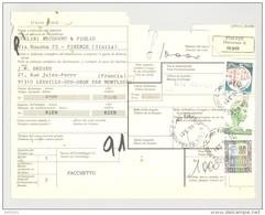 Bulletin D'Expédition - Italie - Cachets Et Vignette FIRENZE - Vignette VENTIMIGLIA - 1981 - Tampon NICODEMO CHELINI - 1946-.. République