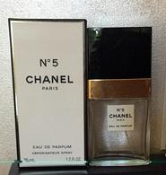 """Flacon Vaporisateur Spray """"N°5 """" De CHANEL  VIDE   Eau De Parfum 35ml Dans Sa Boite - Bottles (empty)"""