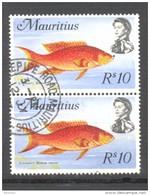 Timbre Oblitéré - Mauritius / Ile Maurice - Bloc 2 Timbres Croissant à Queue Jaune -  Y&T 386 - Maurice (1968-...)