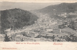 KARLSBAD - Blick Auf Die Franz-Josefshöhe, Gel.1899, Transportspuren, Abgelöste Marke - Böhmen Und Mähren