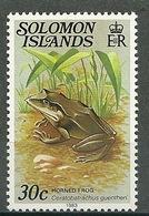 "Solomon Islands – Mi.Nr. 395-II** Frog DATE IMPRINT ""1983"" [1983] - Frösche"