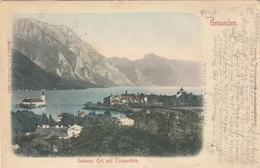 GMUNDEN (OÖ) - Schloss Ort Mit Traunstein, Gel.1902 - Gmunden