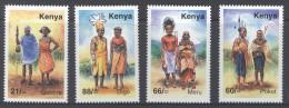 KENYA ,2008, MNH, COSTUMES,DIGO, MERU, POKOT, GABBRA, 4v - Costumes