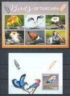 232 TANZANIE 2015 - Yvert 3943/48 BF 607 - Oiseau Perruche Cigogne ... - Neuf **(MNH) Sans Trace De Charniere - Tanzania (1964-...)