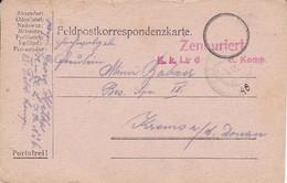 Feldpostkarte - K.u.k. Linien Infanterie Regiment No. 6 - 1916 (35506) - 1850-1918 Imperium