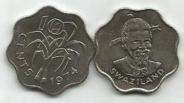 Swaziland 10 Cents 1974. KM#10 High Grade - Swaziland