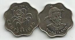 Swaziland 10 Cents 1975. FAO  KM#23 High Grade - Swaziland