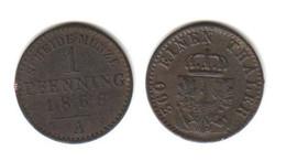 PRUSSE 1 Pfennig 1868 A   Allemagne Preussen Germany - Other