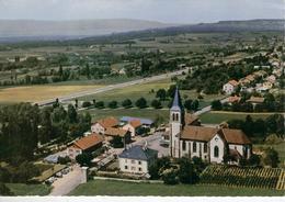 SAINT CERGUES - Vue Aérienne Quartier De L'Eglise -bon état - Saint-Cergues