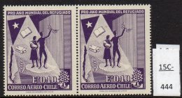 Chile 1960 World Refugee Year Air Airmail 10c With Variety Baby With Deformed Ear. MNH - Chile