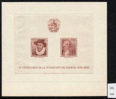 Chile 1958 4th Centenary Osorno M/s, Garcia De Mendoza Ambrosio O'Higgins & Coat-of-arms - Chile