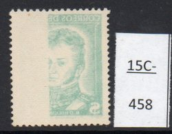 Chile  1952 1p O'Higgins No Wmk – Offset MNH - Chile